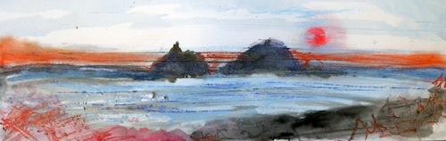 Cape Cornwall Sunset 8th Feb 2015