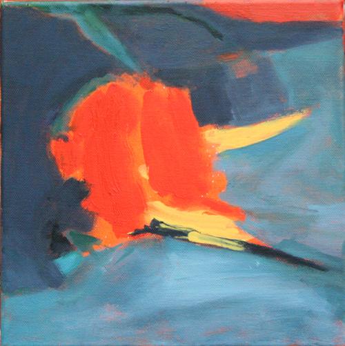 Cliff  25x25cm  oil & acrylic on canvas