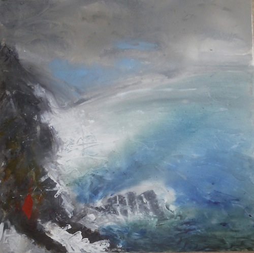 Cove mixed media  on canvas 76cm x 76cm Margaret  Deans[2]