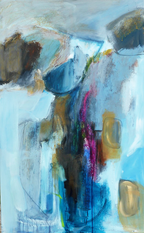 Levant Cliffs ii- 125 x79cm-mixed media