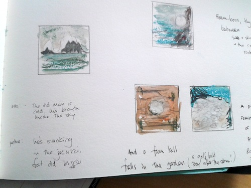 Spume - Cape Cornwall - Thea's sketchbook