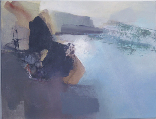 priest's cove_  evening tide  30 x 40 cms oil on canvas web