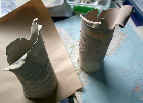 text pots (unfired)