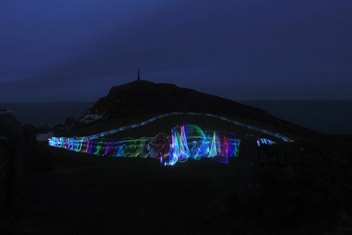 Tony Plant, Cape-moon-walk-light-drawing-2016