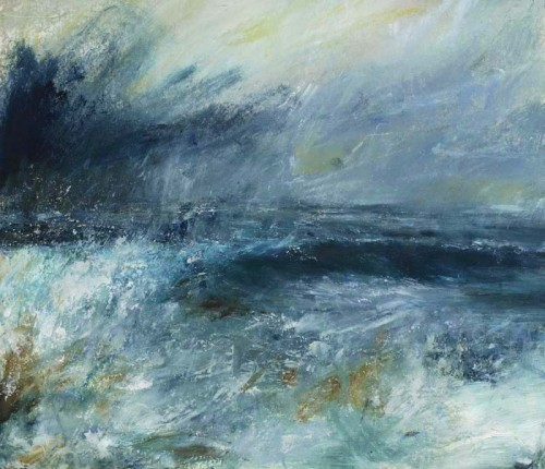 High tide at the Cape  33x39cm Mixed media