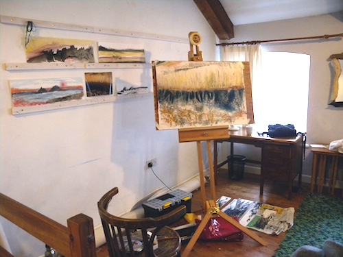 Studio at Brisons Veor Feb 2015